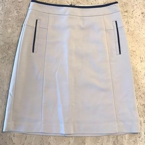 Lined tan & navy Orsay European Skirt